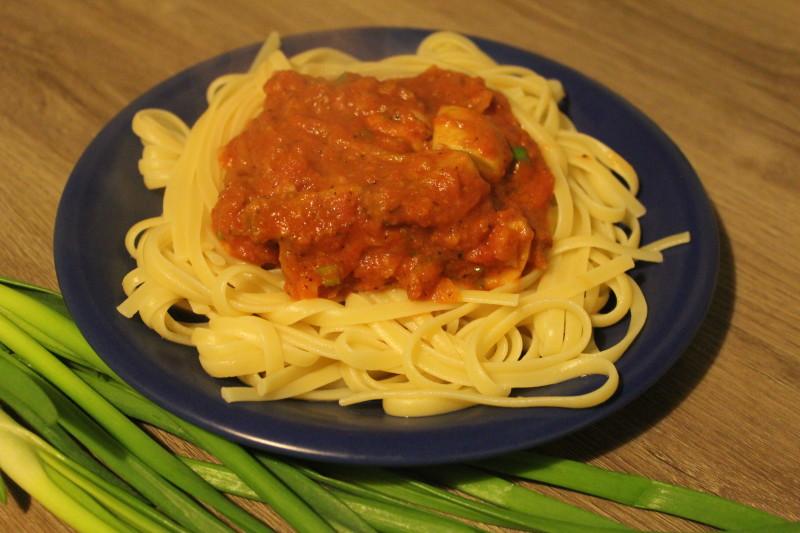 wegetariańskie spaghetti